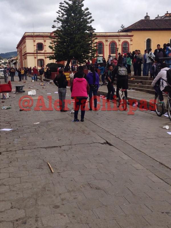 San Cristóbal de las Casas después de los incidentes
