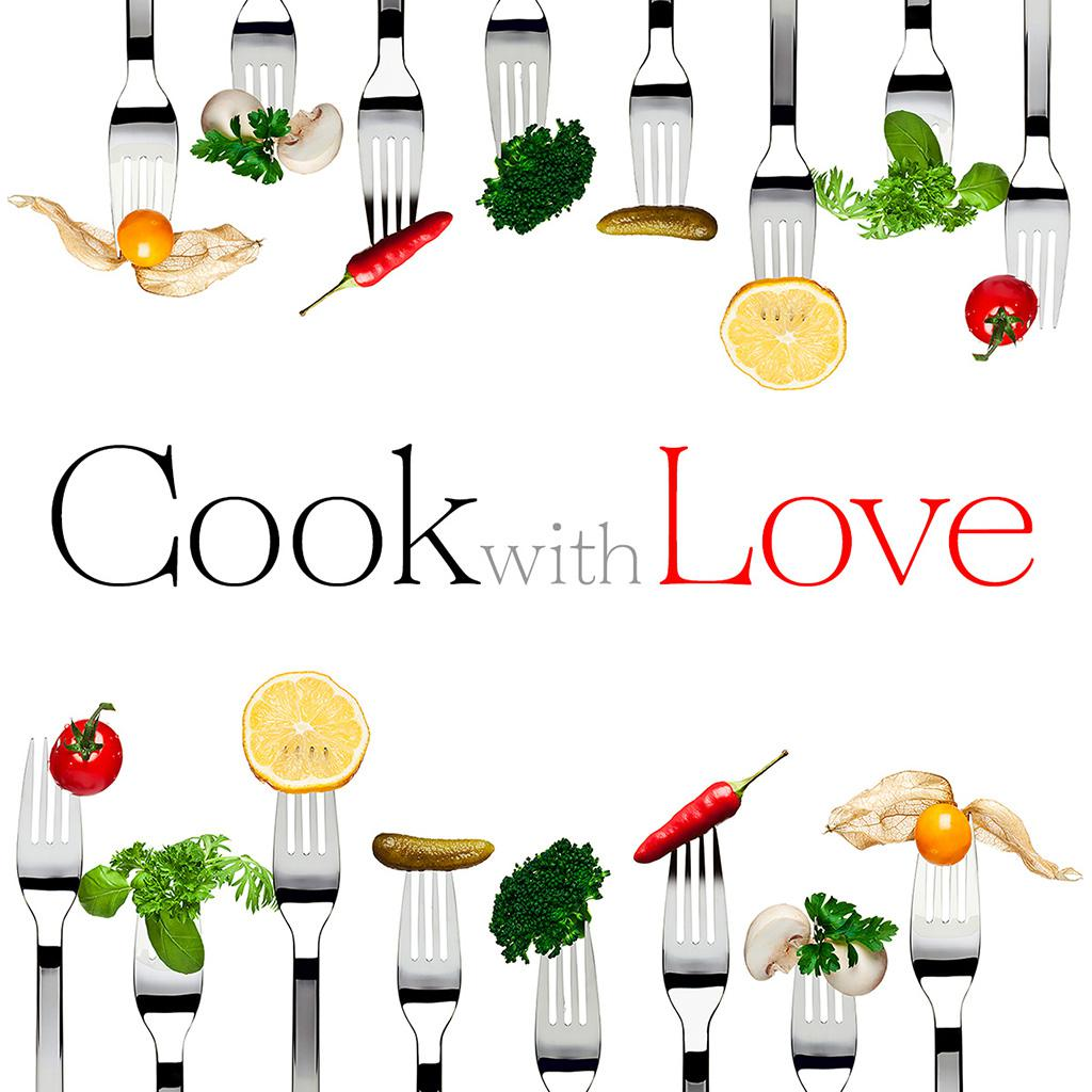 """Logo icona App """"Cook with Love"""""""