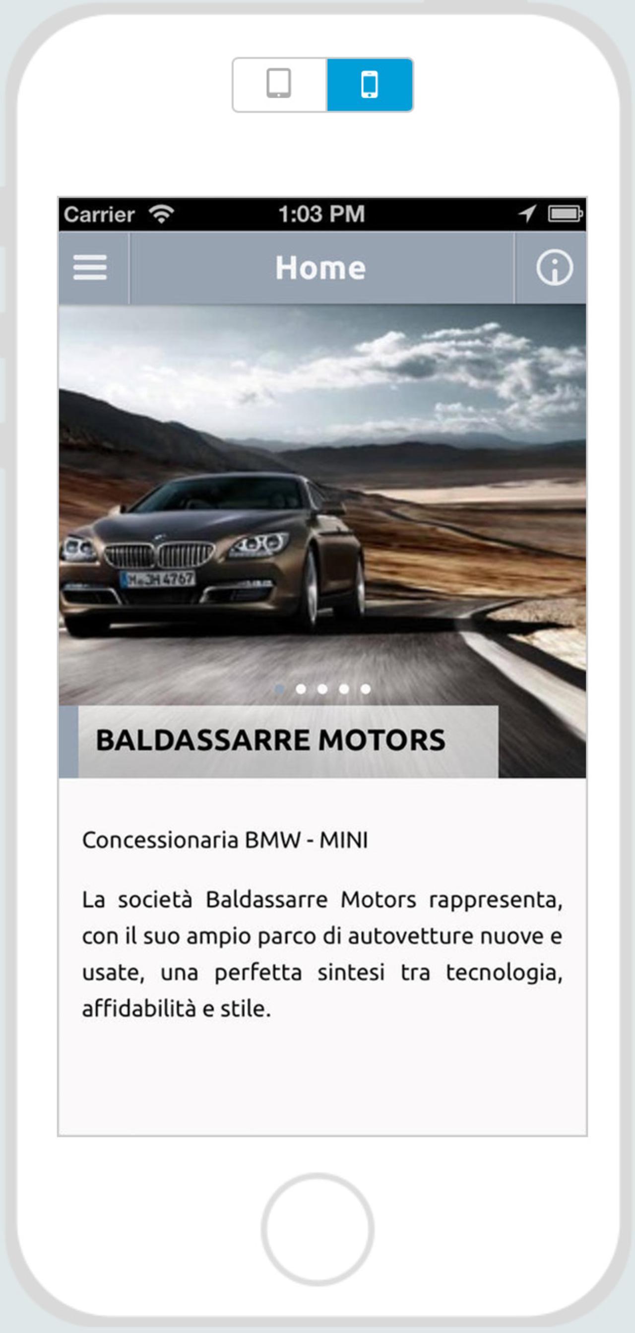 """App """"Baldassarre Motors"""""""