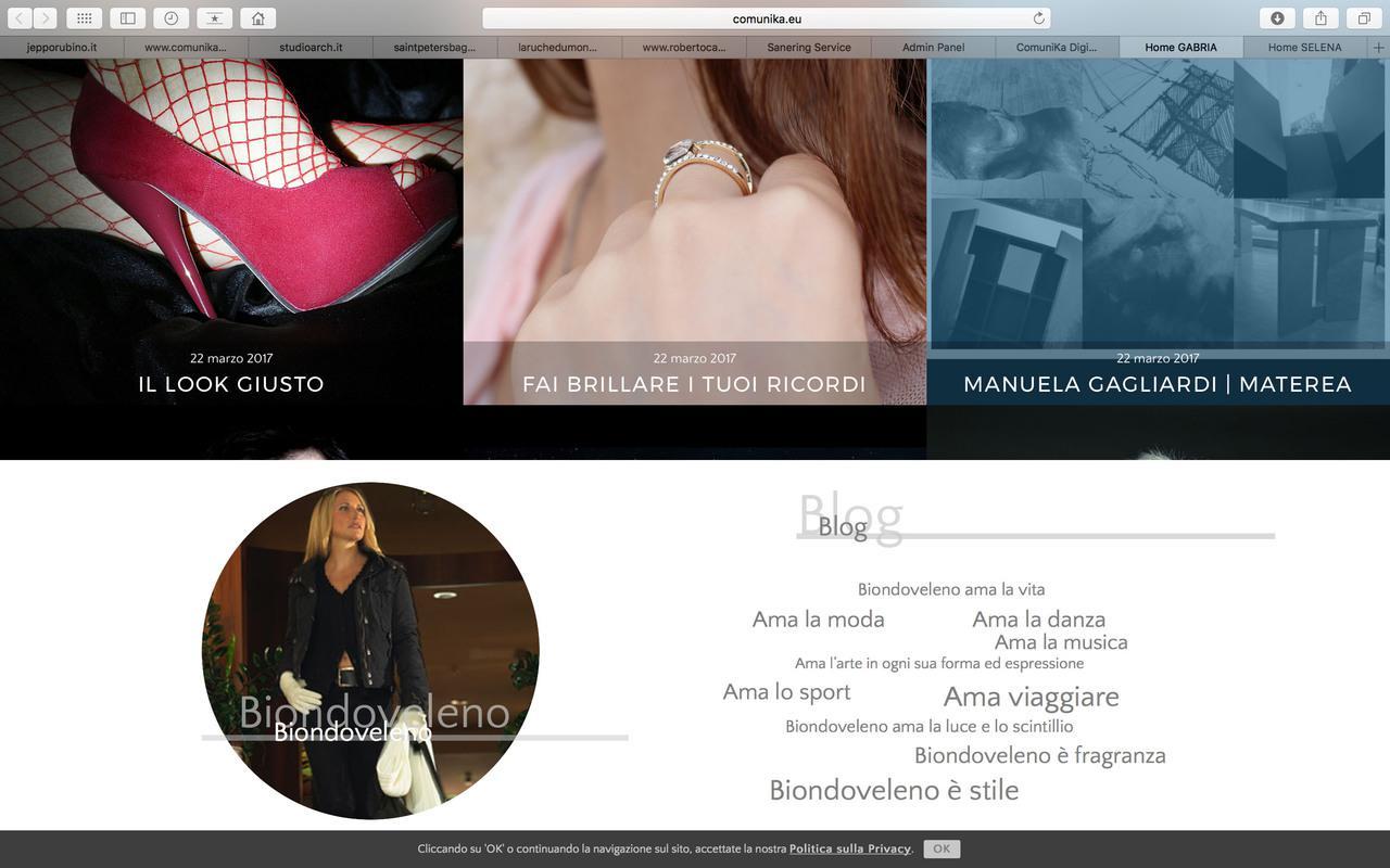 """Sito Blog """"Gabria Gagliardi"""""""