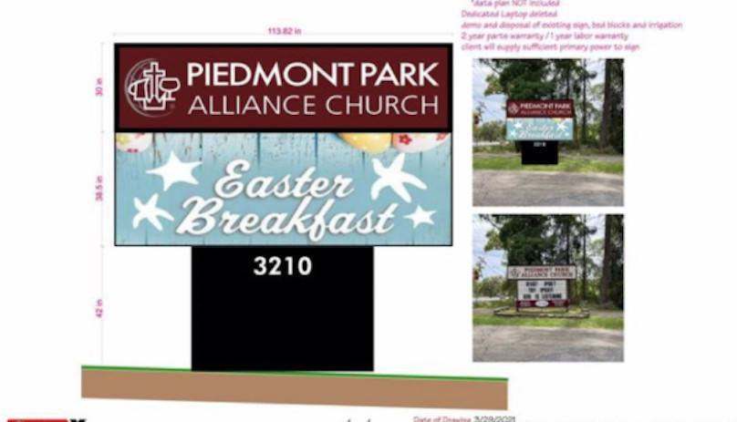 Administrative Board Information - New Church Sign