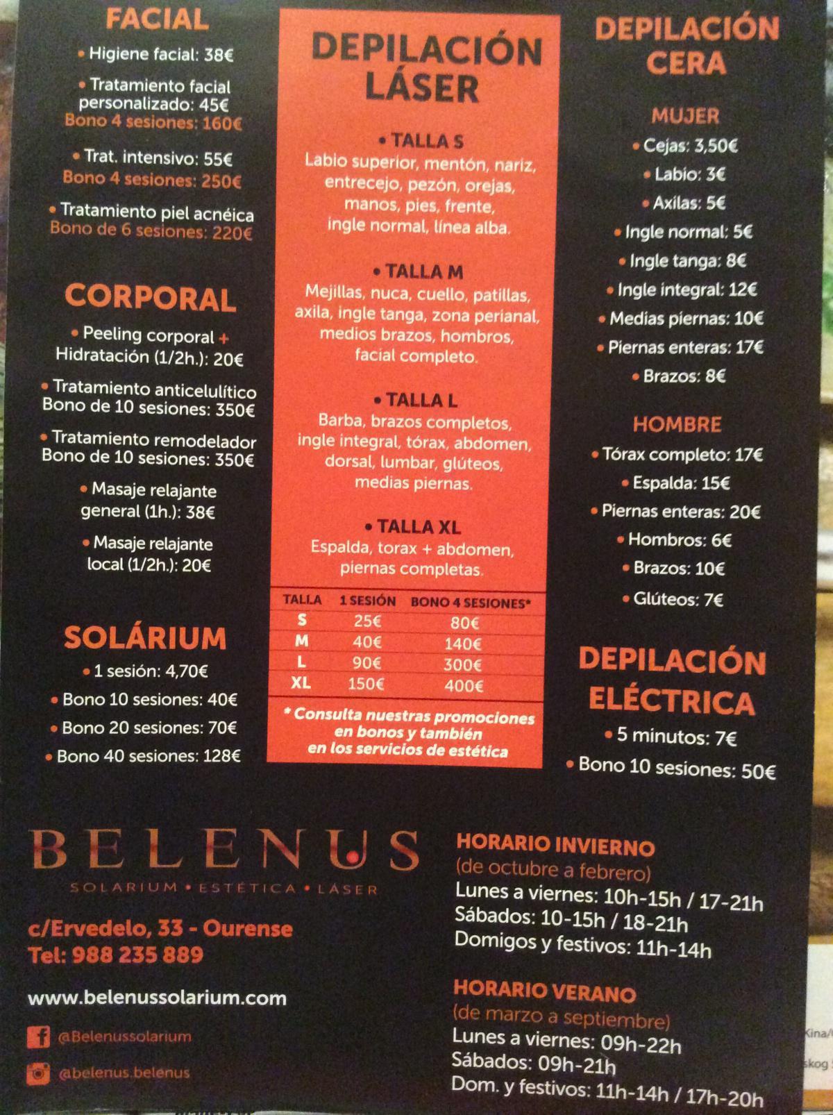 Belenus Solarium - Estética - Láser