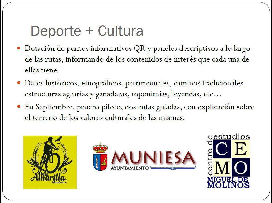 MUNIESA VÍVELA. CALENDARIO DE RUTAS EN GRUPO. PRESENTACIÓN